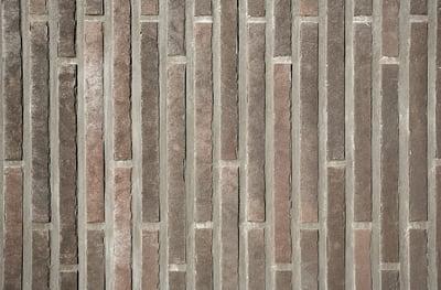 Keramische steenstrip als gevelbekleding