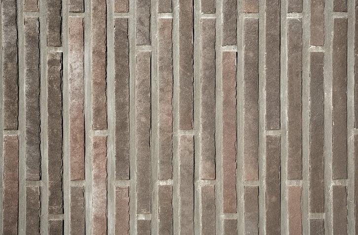 Keramische steenstrips als gevelbekleding